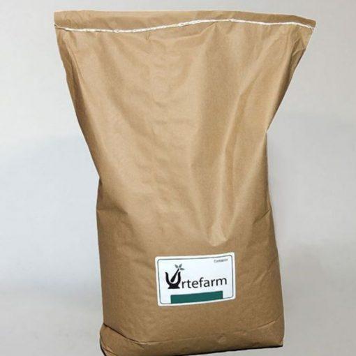 Urtefarm sæk Loppefrøskaller med urter og gærkultur 10 kg